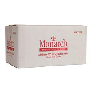 MKT27R Monarch Medium White Kitchen Tidy Liner Rolls - 27L
