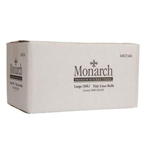 MKT36R Monarch Large White Kitchen Tidy Liner Rolls - 36L