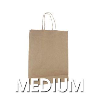 Medium Brown Carry Bags 42x31+11cm