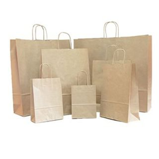 Large Brown Carry Bags 48x34+11cm