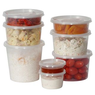 Genfac - 100ml Round Plastic Containers