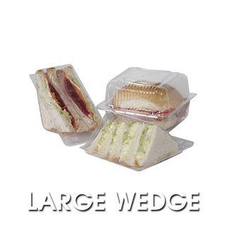 PWT11 Clearpak Large Sandwich Wedges - 80x130x77