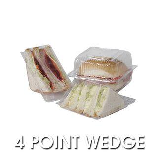 PWT12 Clearpak 4 Point Sandwich Wedges - 73x150x68