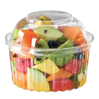 4012DL Castaway 12oz Clear Round Container with Domed Hinged Lid