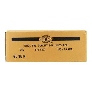 GL16R 80 L Bin Liners - (10 Rolls)