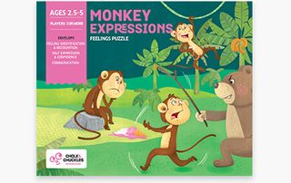 CHALK & CHUCKLES MONKEY EXPRESSIONS