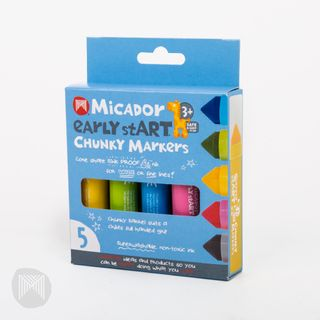 EARLY START CHUNKY MARKERS 5 PACK