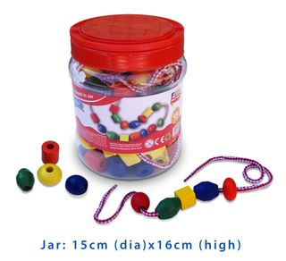 LACING BEAD 90PCES IN A JAR