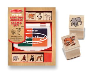 STAMP SET BABY ZOO ANIMALS