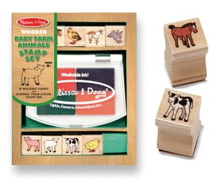 STAMP SET BABY FARM ANIMALS