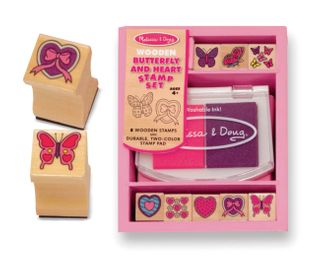 STAMP SET BUTTERFLY & HEARTS