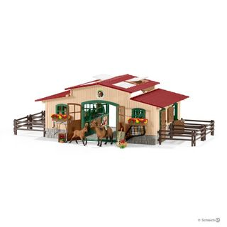 STABLE WITH HORSES & ACCESSORIES 42195