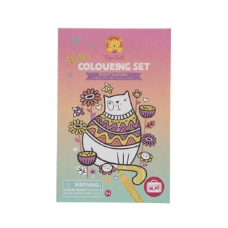 COLOURING SET GLITTER NIGHT GARDEN
