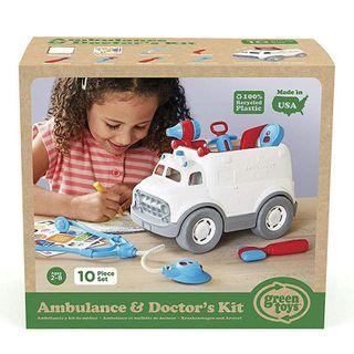 GREEN TOYS AMBULANCE & DOCTORS KIT