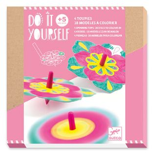 DO IT YOURSELF SPINNING TOP FLOWERS
