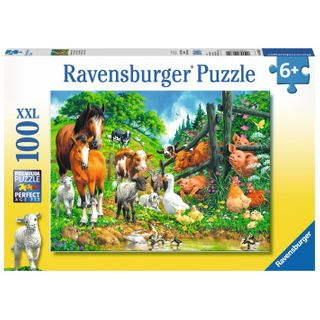 ANIMAL GET TOGETHER PUZZLE 100 PCE