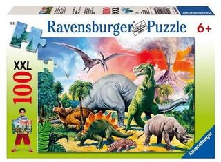 AMONG THE DINOSAURS PUZZLE 100 PCE