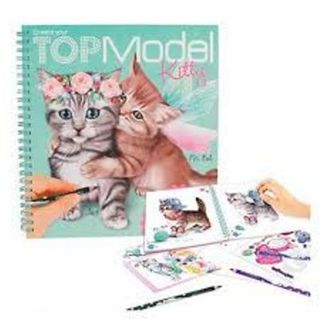 TOP MODEL KITTY COLOURING BOOK