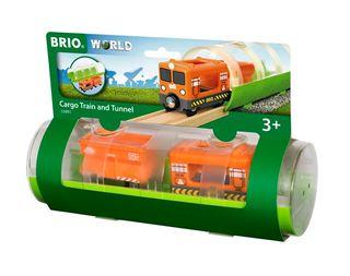 BRIO CARGO TRAIN & TUNNEL 3PCES 33891