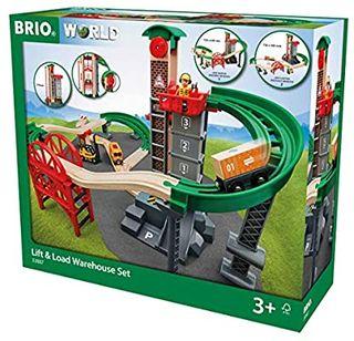 BRIO LIFT & LOAD WAREHOUSE 32PCS 33887