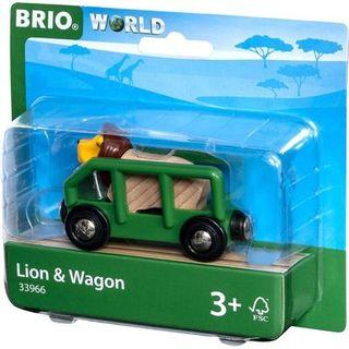 BRIO SAFARI LION & WAGON 33966