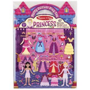 REUSABLE PUFFY STICKERS PRINCESS
