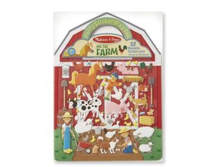 REUSABLE PUFFY STICKERS FARM