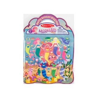 REUSABLE PUFFY STICKERS MERMAID