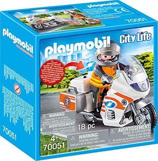 PLAYMOBIL EMERGENCY MOTORBIKE 70051
