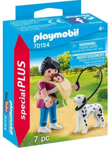 PLAYMOBIL MOTHER WITH BABY & DOG 70154