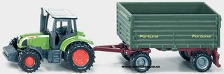 SIKU TRACTOR WITH 2 AXLED TRAILER