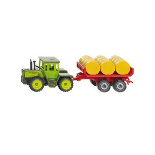 SIKU MB TRACTOR WITH BALE TRAILER