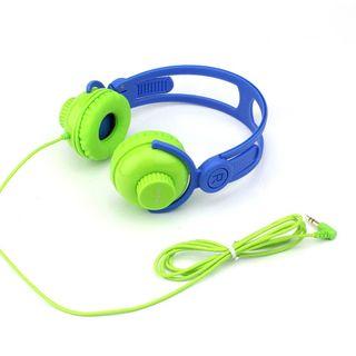 HEADPHONES ON EAR VOLUME CONTROL BLUE