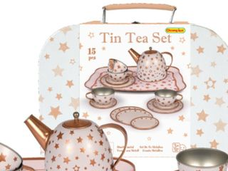 TEA SET TIN CASE GOLD STAR