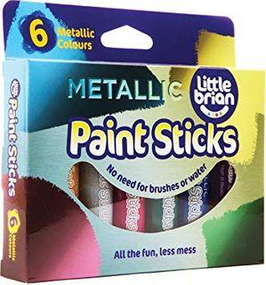 LITTLE BRIAN PAINT STICKS METALLIC 6 PK