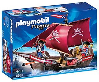 PLAYMOBIL SOLDIERS CANNON BOAT 6681