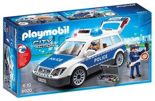 PLAYMOBIL POLICE CAR W LIGHTS SIREN 6920
