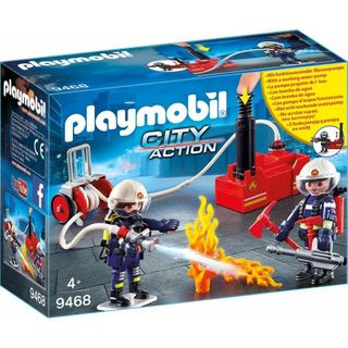 PLAYMOBIL FIREFIGHTERS W WATER PUMP 9468