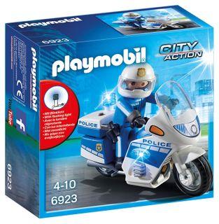 PLAYMOBIL POLICE BIKE W LED LIGHT 6923