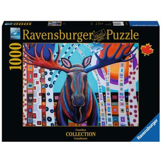 WINTER MOOSE PUZZLE 1000 PCES