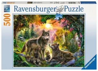 WOLF FAMILY IN SUNSHINE PUZZLE 500 PCE