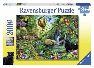 ANIMALS IN THE JUNGLE PUZZLE 200 PCE