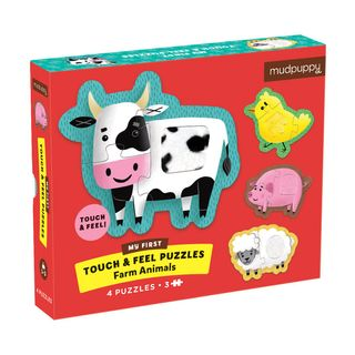 TOUCH & FEEL PUZZLE FARM ANIMALS