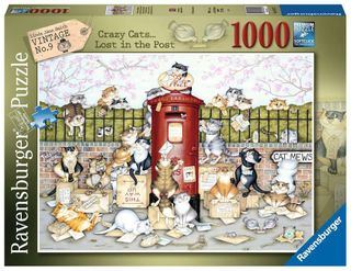 CRAZY CATS LOST IN THE POST PUZZ 1000 PC