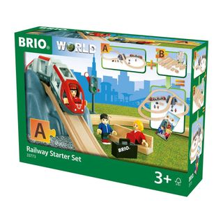 BRIO RAILWAY STARTER SET 26PCES 33773