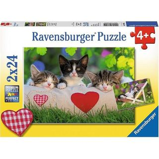 SLEEPY KITTENS PUZZLE 2X24 PCE