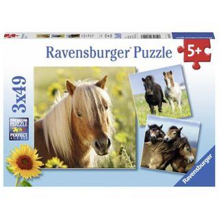 LOVING HORSES PUZZLE 3X49 PCE