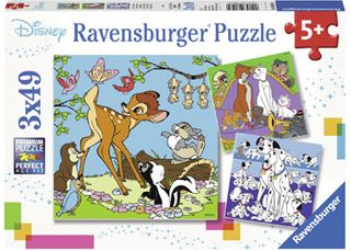 DISNEY FRIENDS PUZZLE 3X49 PCE