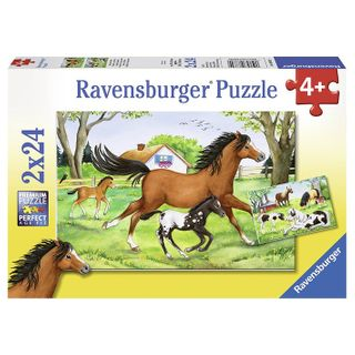 WORLD OF HORSES PUZZLE 2X24 PCE
