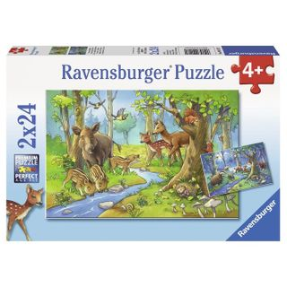 CUTE FOREST ANIMALS PUZZLE 2X24